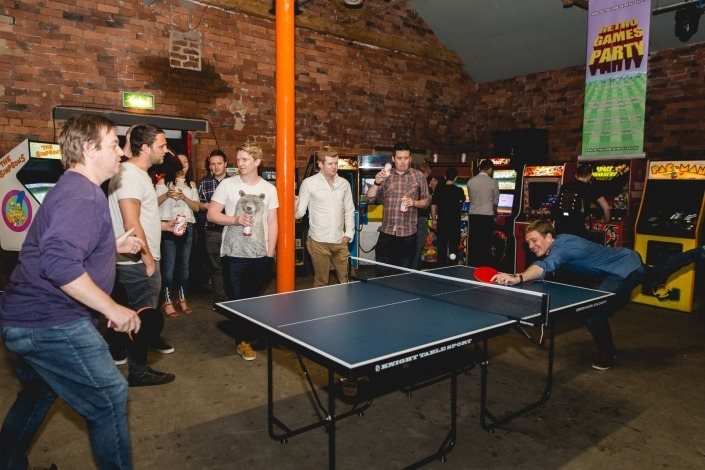 Staff party ping pong competition